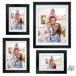 Giftgarden Multiple Black Picture Frame Set with Mat, Two 4x