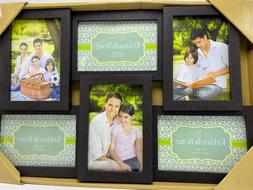 NEW Kirkland's Home Decor 6 Photo Picture Frame Collage Blac