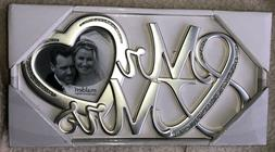 NEW MALDEN MR & MRS PICTURE FRAME SILVER RHINESTONE ACCENT W