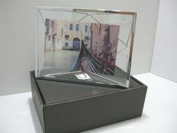 NEW Umbra Photo Display Prisms Picture, Art Photo Frame Silv
