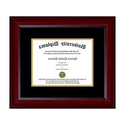 New Single Diploma Frame with Double Matting in asst. moldin
