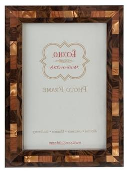 Eccolo Opalescent Tan Wood Frame, 8 by 10-Inch