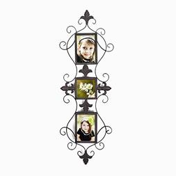 Adeco Opening Decorative Iorn Metal Wall Hanging Collage Pic