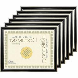 Pack of 6 MCS Economy Document Frames 8-1/2x11 Black with Go