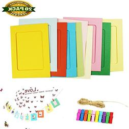 Paper Photo Frame, DIY Photo Frame Wall Deco with Clips and