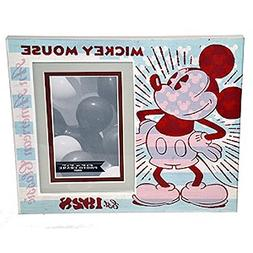 "Disney Parks Picture Frame Mickey Mouse Est. 1928 Wood 4""x6"""