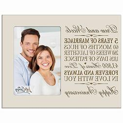 Personalized five year anniversary gift her him couple Custo