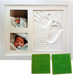 Personalized Baby Handprint & Footprint Keepsake Photo Frame