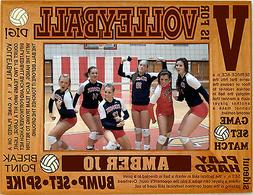 Personalized Volleyball Engraved Picture Frames 4x6 5x7 8x10