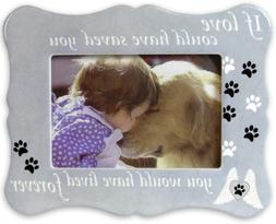 Banberry Designs Pet Memorial Picture Frame - If Love Could
