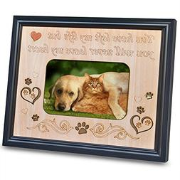 PETAFLOP 4x6 Pet Memorial Picture Frame with Engraved Sweet