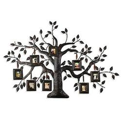 Adeco PF0593 Brown Black Decorative Collage Family Tree Bron