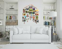 Photo Collage Frames Hanging Display Wood Multiple Pictures