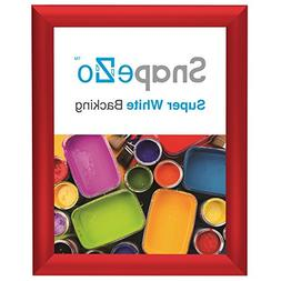 "SnapeZo Photo Frame 8x10 Inch, Red 1"" Aluminum Profile, Fron"