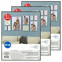 Photo Frame Set Of 3 8x10 Format Lot Wall Art Home Decor Bla