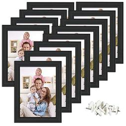 Giftgarden 5x7 Picture Frame for Wall Decor or Tabletop, Bla
