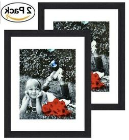 11x14 Inch Picture Frame Black  - Glass Front Cover - Displa