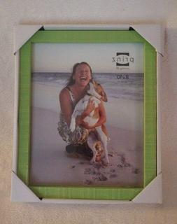 """Prinz Picture Frame Distressed Green Wood Holds 8"""" x 10"""" Pic"""
