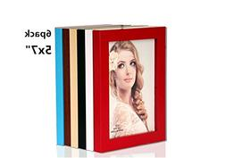 leoyoubei 6-pack 5 by 7 Inch Picture Frame Set for Photo Dis
