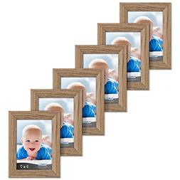 Icona Bay 5x7 Picture Frames 6 Pack , Picture Frame Set, Wal