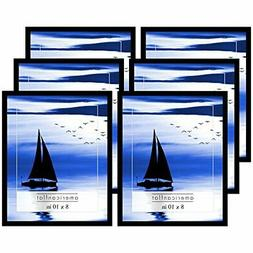 Americanflat Picture Frames with Glass Fronts, 6 Pack-8x10,