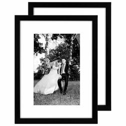 Americanflat 2 Pack - 12x16 Black Picture Frames - Display P