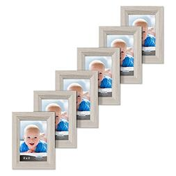 Icona Bay 4x6 Picture Frames set of 6 , Picture Frame Set, W
