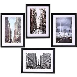 """Picture Frames Collage for 4 Photos in 11"""" x 14"""" for Wall Mo"""