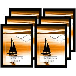 Americanflat Picture Frames with Glass Fronts, 6 Pack-5x7, B