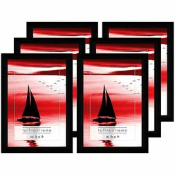 Americanflat Picture Frames with Glass Fronts, 6 Pack-4x6, B