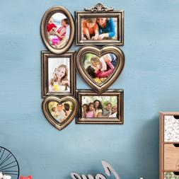Adeco Plastic 6-Photos Pictures Frame Placard Display Wall H