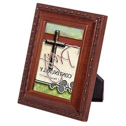 Pray Continually 2 x 3 Woodgrain Finish Embossed Rope Magnet