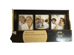 """Prinz Picture Frame Collage Solid Wood Black Holds 3 4"""" x 6"""""""