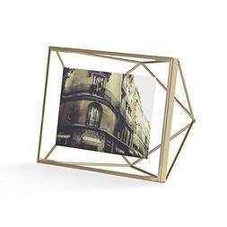 Umbra Prisma 4X6 Photo Display, Matte Brass