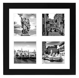 Americanflat Collage Picture Frame 10x10 - Displays Four 4x4
