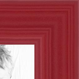 ArtToFrames 8x10 inch Red Stain on Red Oak Wood Picture Fram