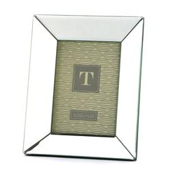 Two's Company Reflections Beveled Mirror Photo Frame, 5 by 7