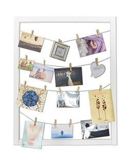 Reimagine Hanging Photo Display- Wood Wall Picture Frame Col