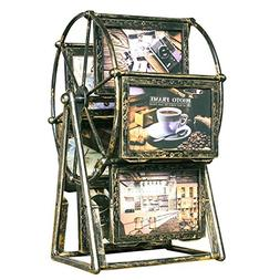 XBEEK Rotating Ferris Wheel Photo Frames Vintage Style Windm