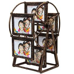 Large Rotating Ferris Wheel Twelve 3.5 x 5 In Picture Frame