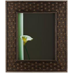 Craig Frames Russet Basket, Dark Brown Ornate Hardwood Pictu