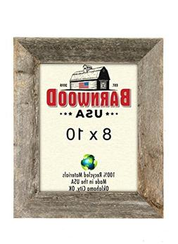 BarnwoodUSA Rustic 8x10 Inch Picture Frame 1 1/2 Inch Wide -