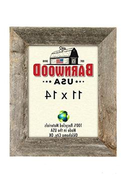 BarnwoodUSA Rustic 11 by 14 Inch Picture Frame with 1 1/2 In
