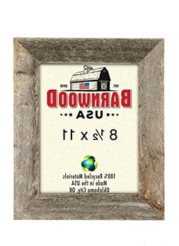BarnwoodUSA Rustic 8.5 by 11 Inch Picture Frame 1 1/2 Inch W
