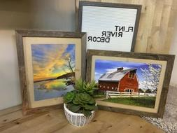 "Rustic Reclaimed Farmhouse Barnwood Barn Wood 1"" Picture Fra"