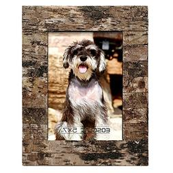 EosGlac Rustic 5 x 7 Wooden Picture Frame, HandCrafted with