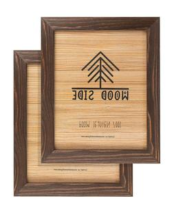 Rustic Wooden Picture Frames - Natural Solid Eco Wood - Wall