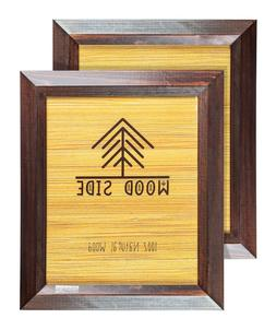 Rustic Wooden Picture Frames - Natural Solid Eco Wood Bevele