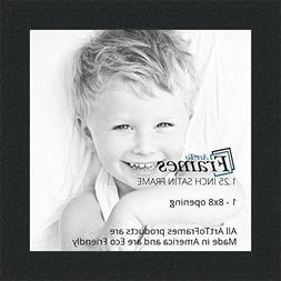 ArtToFrames 8x8 inch SATIN BLACK PICTURE FRAME WOMFRBW26079-