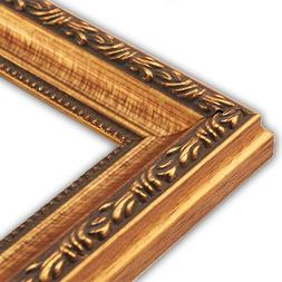 Scrolled Gold Picture Frame-Solid Wood, 11x14